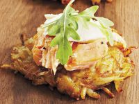 Potato Rosti with Trout Topping recipe