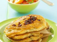 Potato Pancakes with Tomato Salad recipe