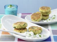 Potato Patties with Yogurt Dip recipe