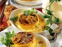 Potato Rolls with Herb Cream and Walnuts recipe