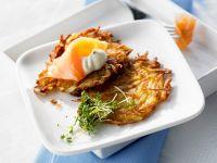 Potato Rosti with Smoked Salmon recipe