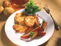 Potato Rösti with Stewed Plums recipe