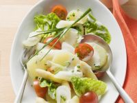 Potato Salad with Asparagus and Mayo Dressing