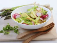 Potato Salad with Asparagus and Radish