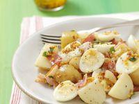 Potato Salad with Bacon, Quail Eggs and Mustard Vinaigrette recipe