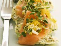 Potato Salad with Egg, Herbs, and Smoked Salmon recipe