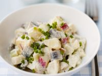 Potato Salad with Herring and Apples recipe