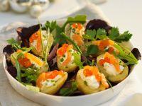 Potato Salad with Salmon and Cream Cheese recipe
