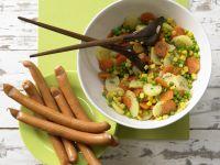Potato Salad with Sausages recipe