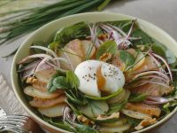 Potato Salad with Smoked Salmon and Poached Eggs recipe