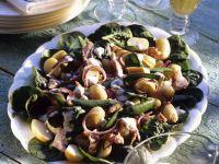 Potato Salad with Snow Peas and Smoked Fish recipe