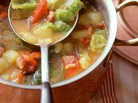 Potato Soup with Bacon and Savoy recipe