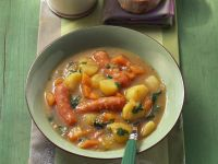Potato Soup with Carrots and Sausages recipe