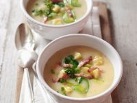 Potato Soup with Leek and Bacon recipe