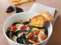 Potato Soup with Mussels recipe
