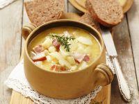 Potato Soup with Onions and Smoked Bacon recipe