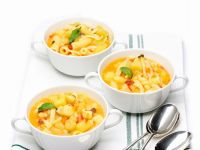 Potato Soup with Pasta and Bell Pepper recipe