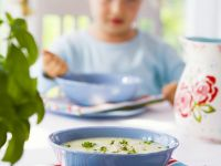 Potato Soup with Peas recipe
