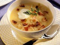Potato Soup with Sauerkraut and Bacon recipe