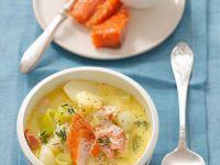 Potato Soup with Smoked Fish recipe