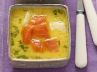 Potato Soup with Smoked Salmon and Parsley recipe
