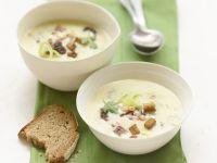 Potato Soup with Wild Garlic and Bacon recipe