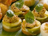 Potato Tartlets with Avocado Cream