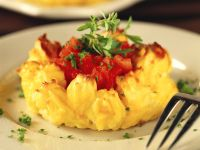Potato Tartlets with Tomatoes recipe
