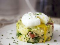 Potato Tarts with Poached Eggs recipe