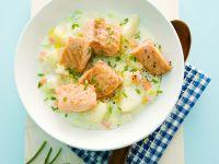 Potato-Vegetable Chowder with Salmon recipe