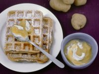 Potato Waffles with Applesauce recipe