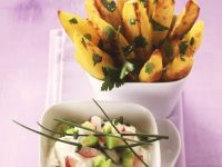 Potato Wedges with Radish Cream recipe
