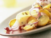 Potatoes and Pears with Berry Cream recipe