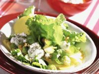 Potatoes, Brussels Sprouts and Endives with Red Lentils recipe