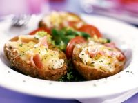 Potatoes with Ham and Parsley recipe