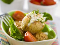 Potatoes with Herbed Quark and Salad recipe