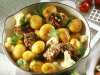 Potatoes with Peanut Patties recipe