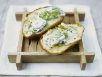Potatoes with Roquefort and Scallions recipe