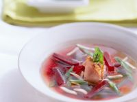 Poultry Soup with Beets