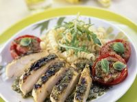 Poultry with Basil Sauce recipe