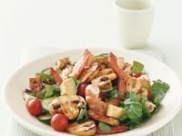Prawn and Mixed Veggie Salad recipe