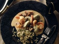 Prawn and Mushroom Stew with Pike Dumplings recipe