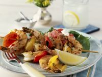 Prawn and Pepper Brochettes recipe