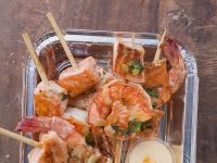 Prawn and Salmon Skewers recipe