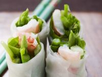 Prawn Nems with Asparagus recipe