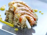 Prawn Skewers with Healthy Grains recipe
