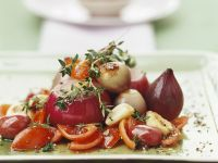 Preserved Red Onions with Tomatoes recipe