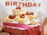 Profiteroles with Raspberry Whipped Cream recipe