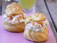 Profiteroles with Smoked Salmon and Dill Cream Filling recipe