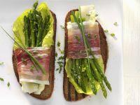 Ham and Asparagus Toasts recipe